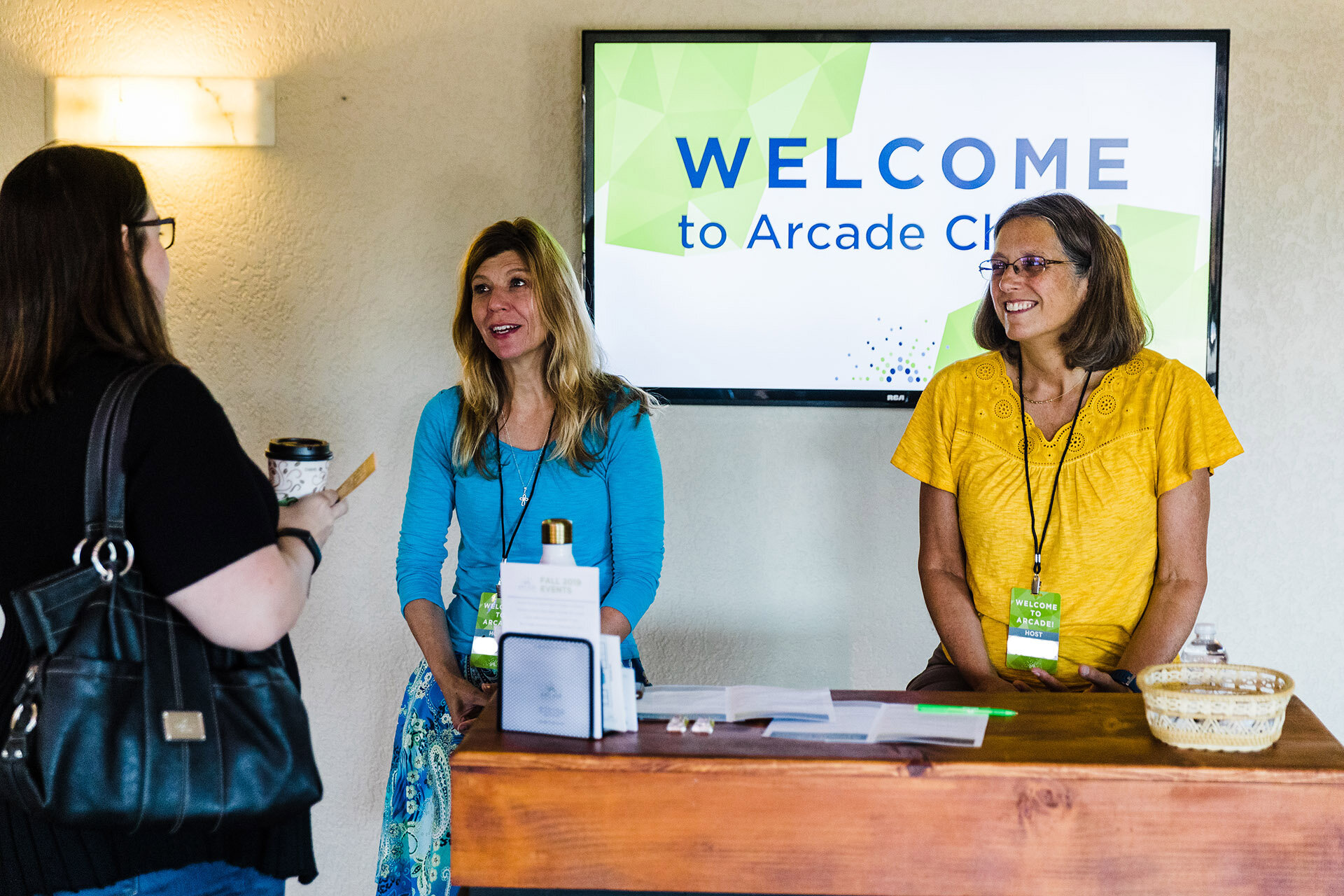 HOSPITALITY - Welcome Hub, Greeters, UshersCommon Grounds Coffee CartLibraryFor more information, contact hospitality@arcadechurch.com.