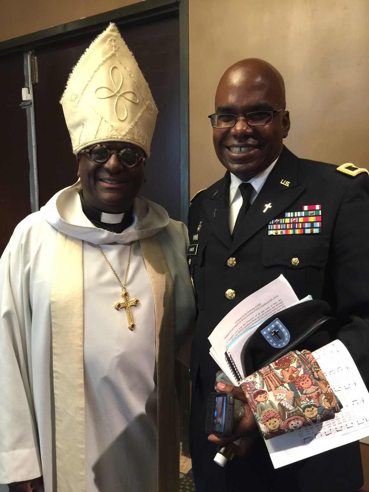 Chaplain Paul Minor - serves as co-rector with his wife in a parish and as chaplain with his National Guard unit.