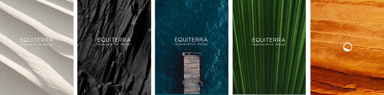 Our branding guidelines specify environmental elements that represent the variety of ecosystems in which Equiterra works. These visual patterns are represented throughout the new graphic identity.