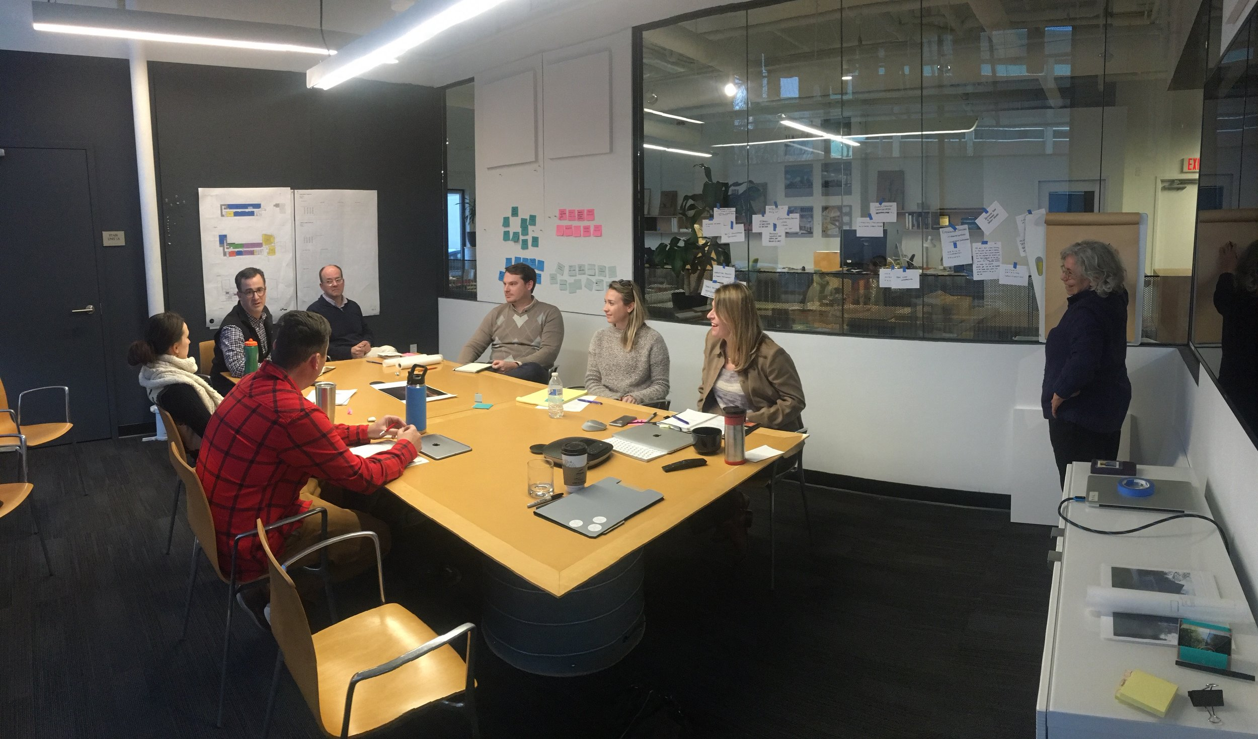 A CVG on-site working session with KITE Architects, February 2018