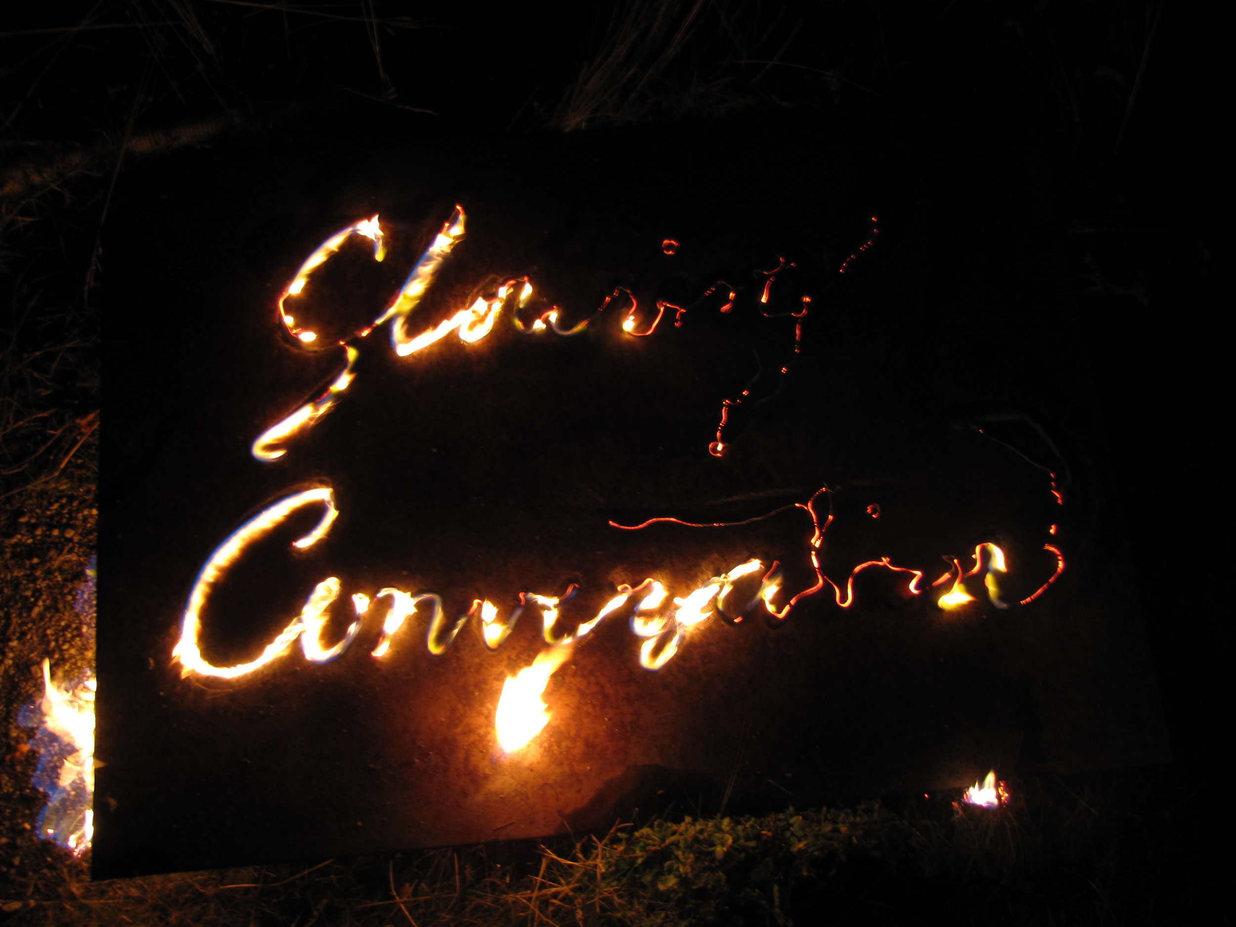 Glowing Conversation - Sanctuary of LIVE, fire drawing.JPG