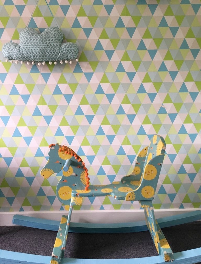 Papered rocking horse