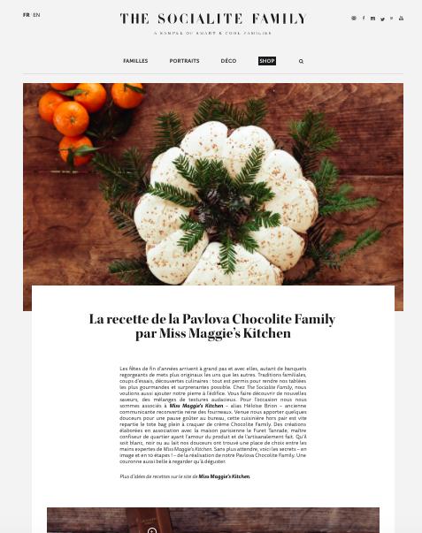 The Socialite Family - Décembre 2017 -