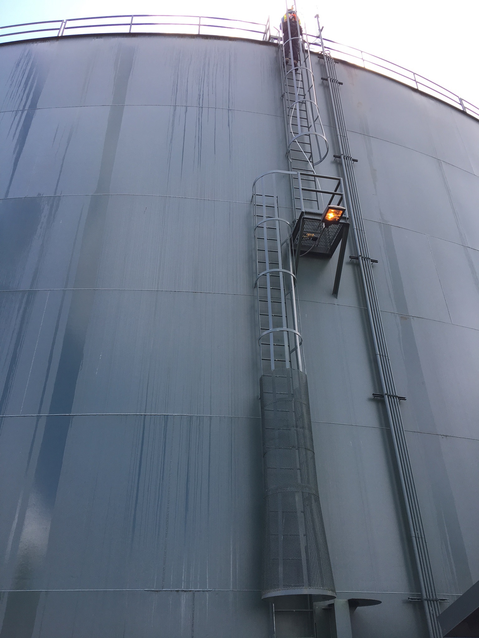 Vertical fall protection for municipality; LAD-SAF system; ladder fall protection