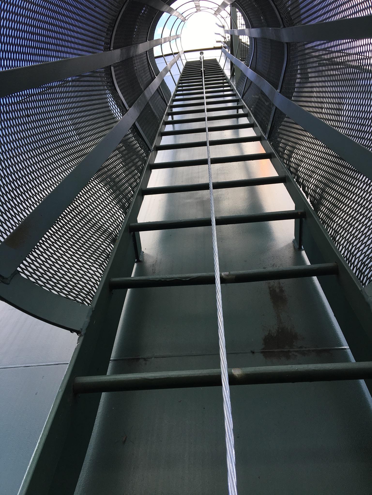 Vertical LAD-SAF system; ladder fall protection