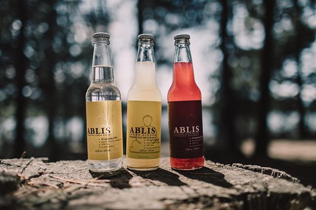 Monday must have! Ablis sparkling CBD water from Bend, Oregon. Available in lemon, lemon ginger, and cranberry blood orange! 12oz bottles containing 25mg CBD & 50ml containing 10mg CBD @abliscbd