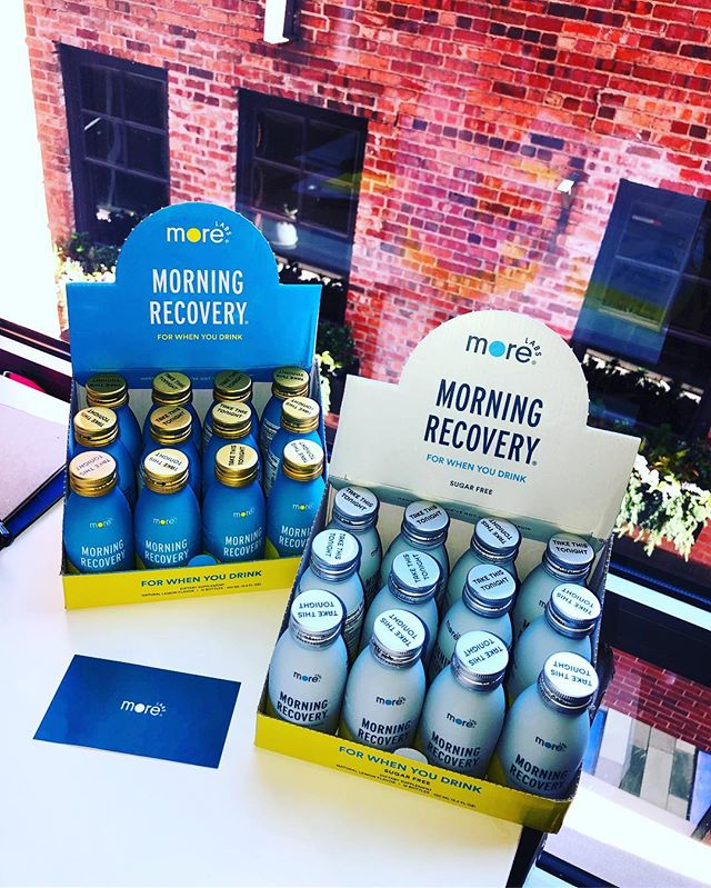 Drink tonight, bounce back tomorrow. New Morning Recovery now available in Colorado! Lemon & sugar free lemon 🍋 @morelabs