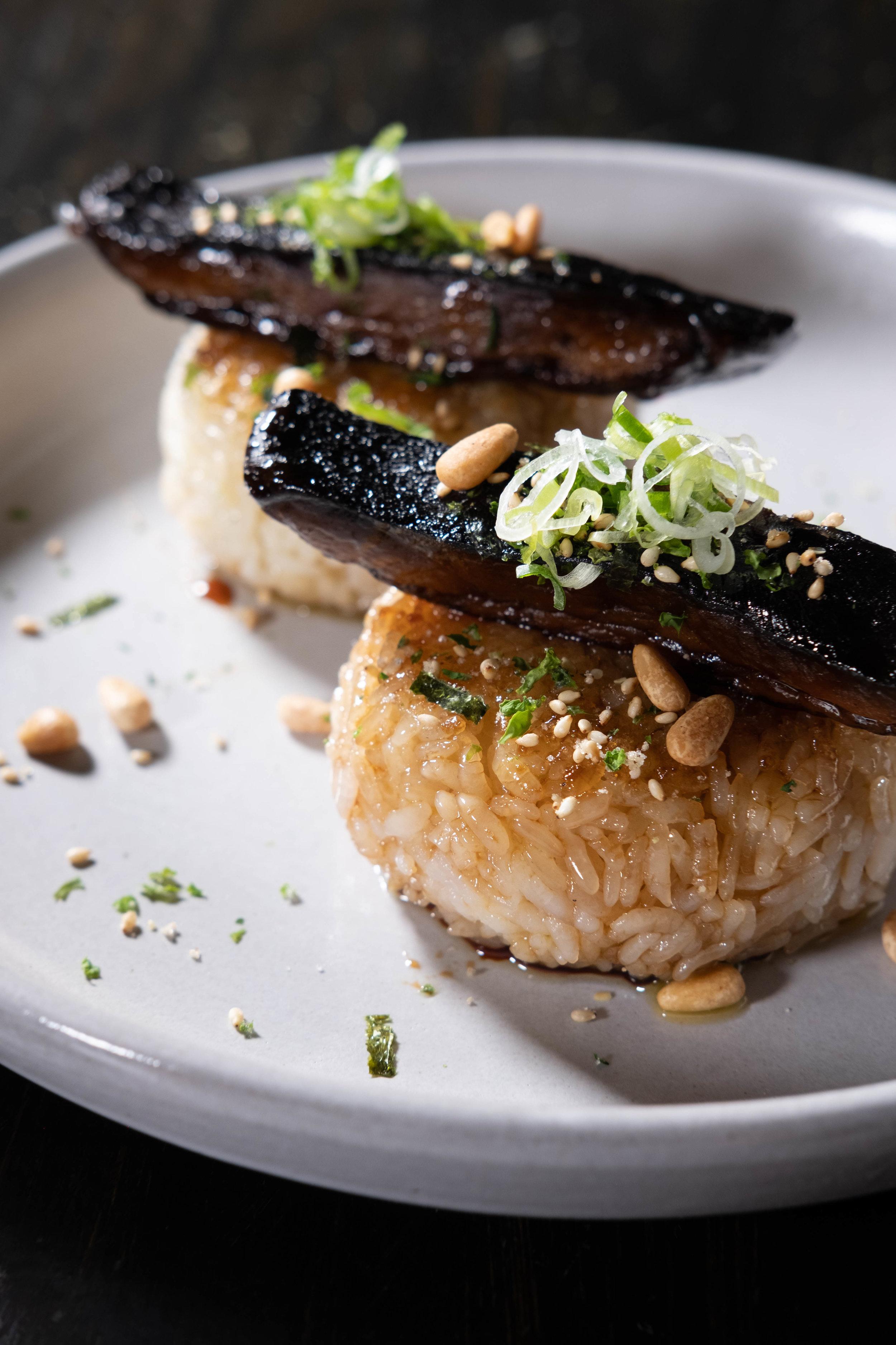Rice Balls & Purple Sweet Potato Toast