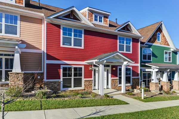 Waterstone Townhomes Ashville, NC - 19 townhomes ranging from 1,400 to 2,189 sq. f.t,  2 & 3 bd., 2.5 ba