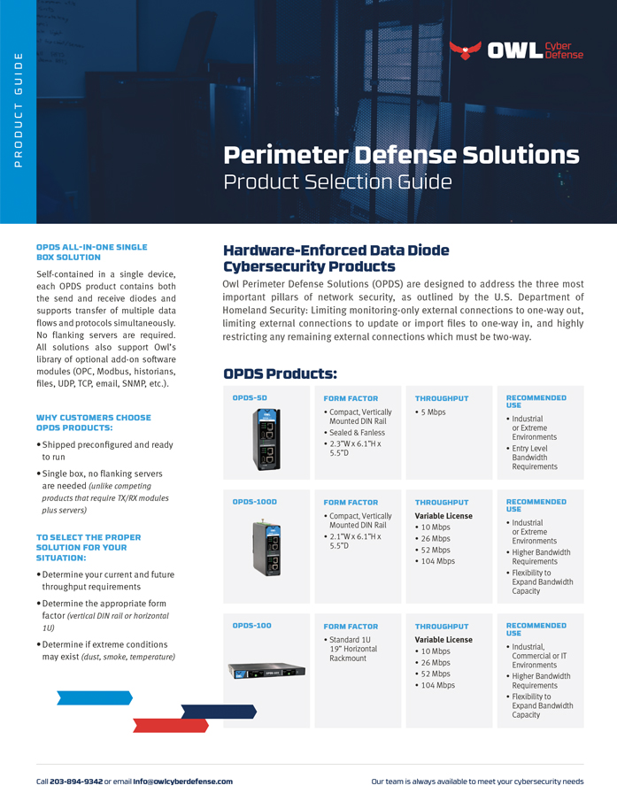OPDS Product Selection Guide