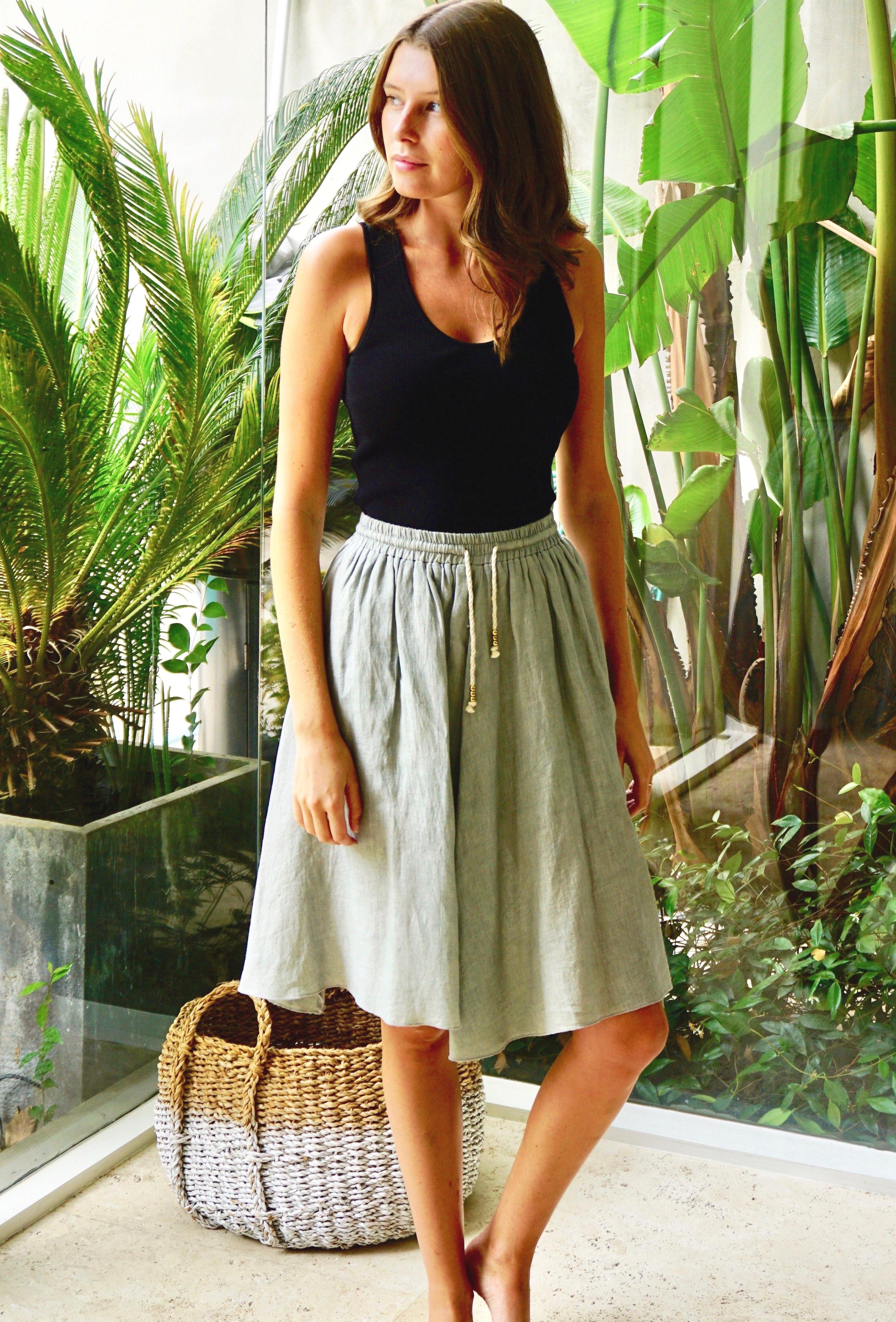 Skirt Linen Cement
