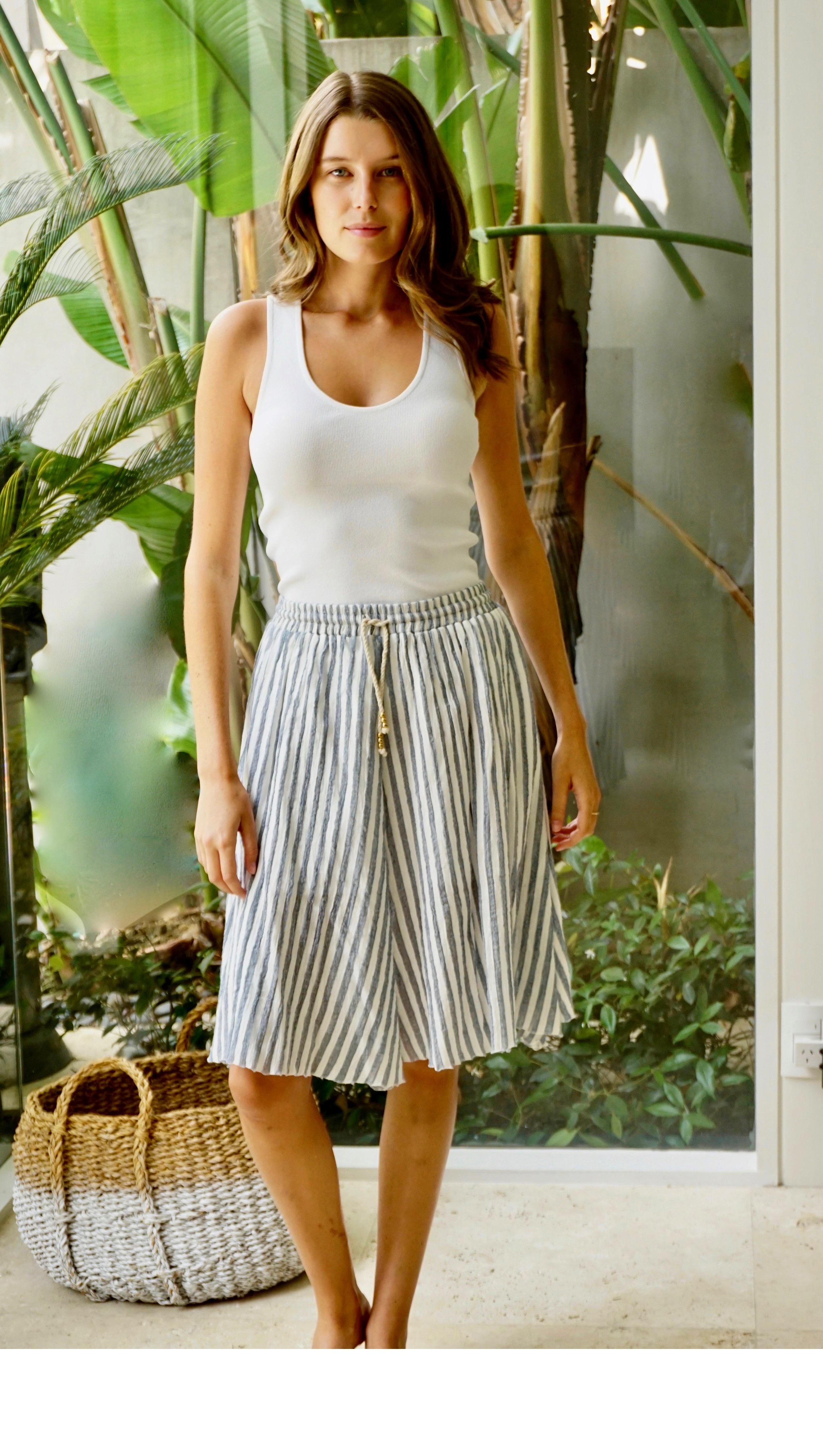 Skirt Striped Blue