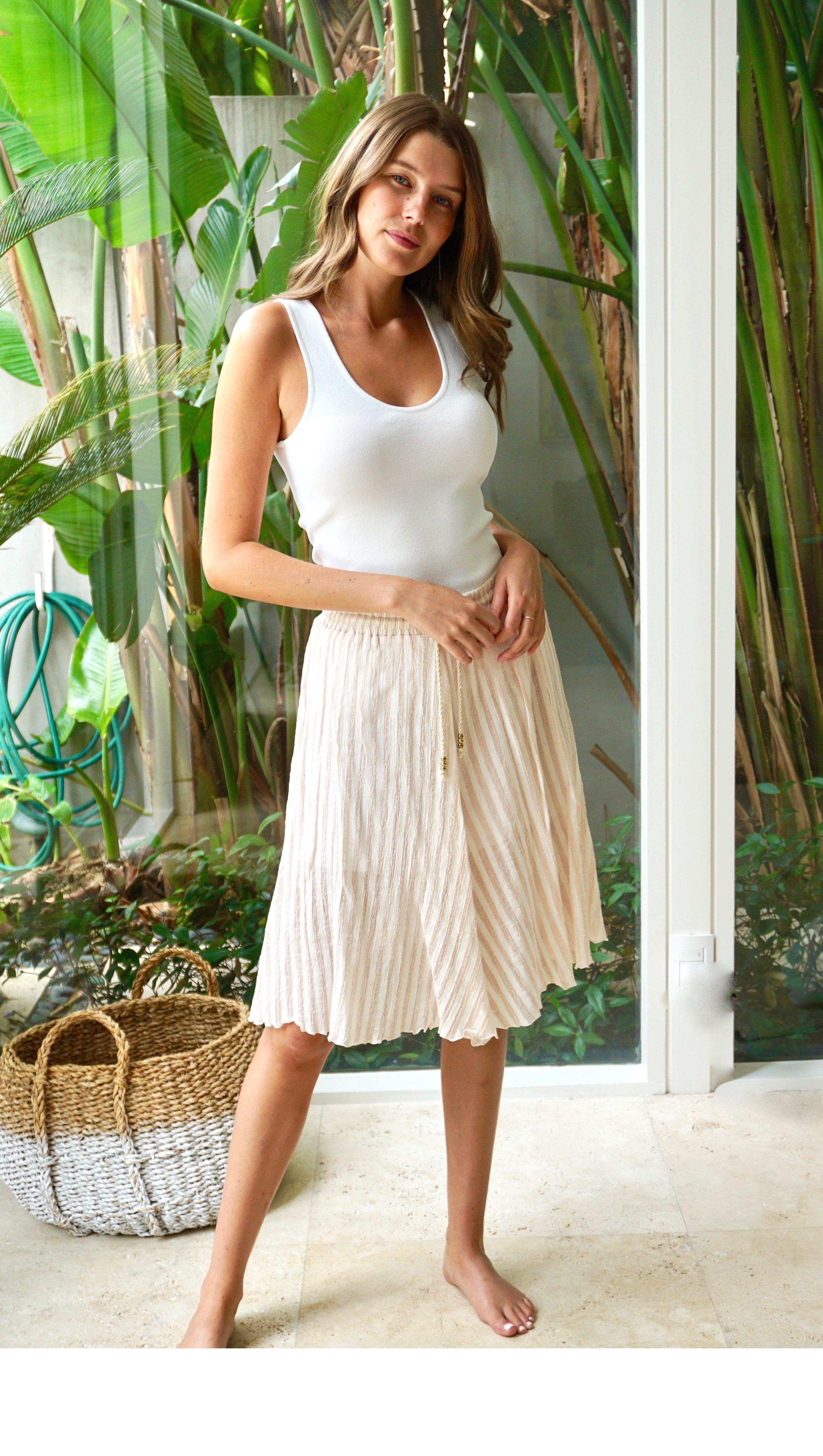 Skirt Striped Pink