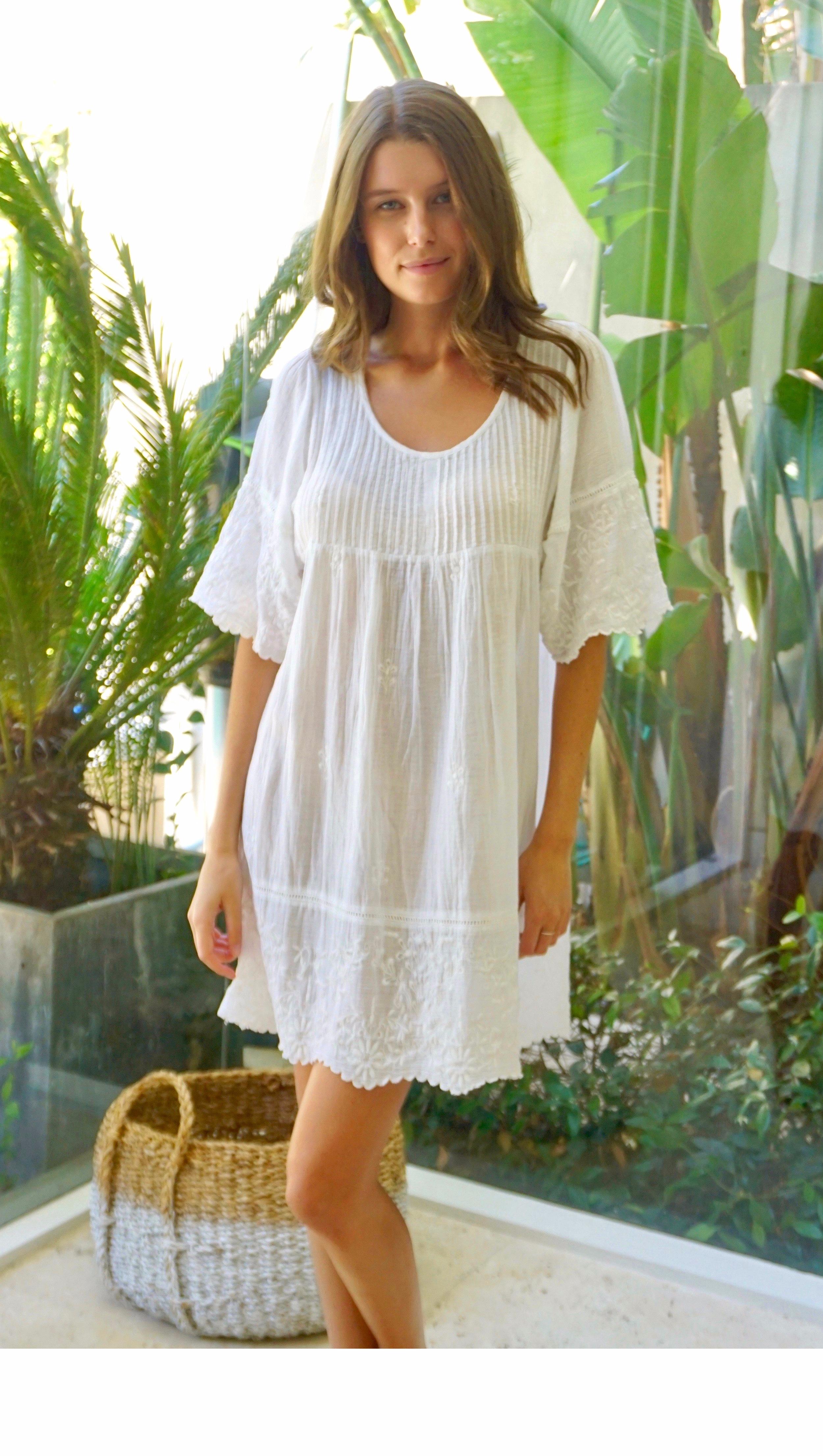 Albi Dress White