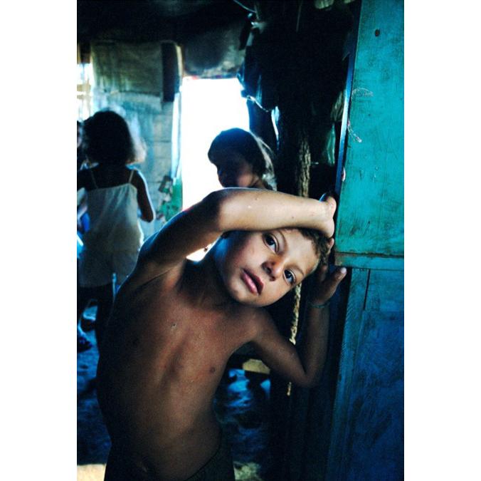 Child in MST encampment, Apiai, Brazil, 2006