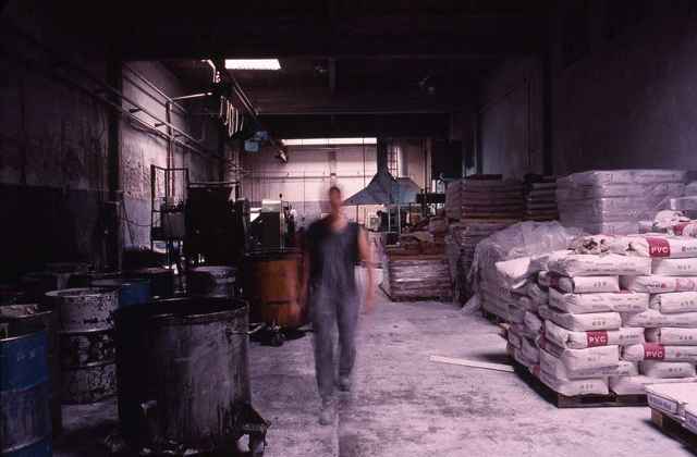 Worker in bread factory, Buenos Aires, Argentina, 2006. Photos by Andy Lin.