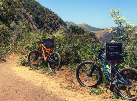 Full Suspension Mountain Bikes - Fleet includes Specialized Camber Evo, Marin Hawk Hill and KHS 6600 in small, medium, large and XL with 27.5/29wheel sizes.Ride from $25/hr, $75/half day and $125/ Full Day.New & Used Starting at $2800+ or ride unlimited yearly starting at $749/year. 6 riding events throughout the year.Reserve online by clicking here.