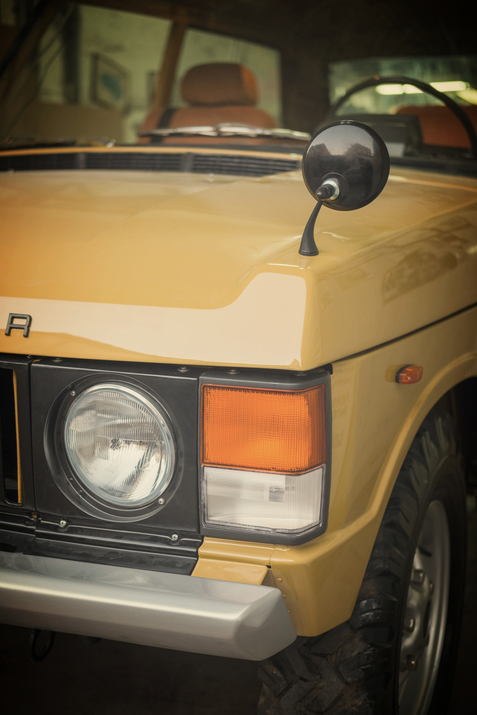 Bahama Gold 1973 Range Rover Classic in all its fully restored glory.