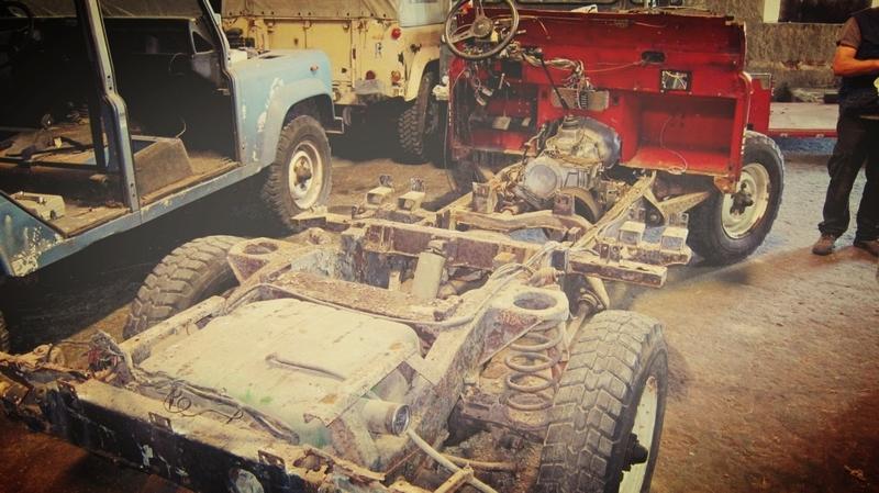 Land Rover Defender builds in progress.