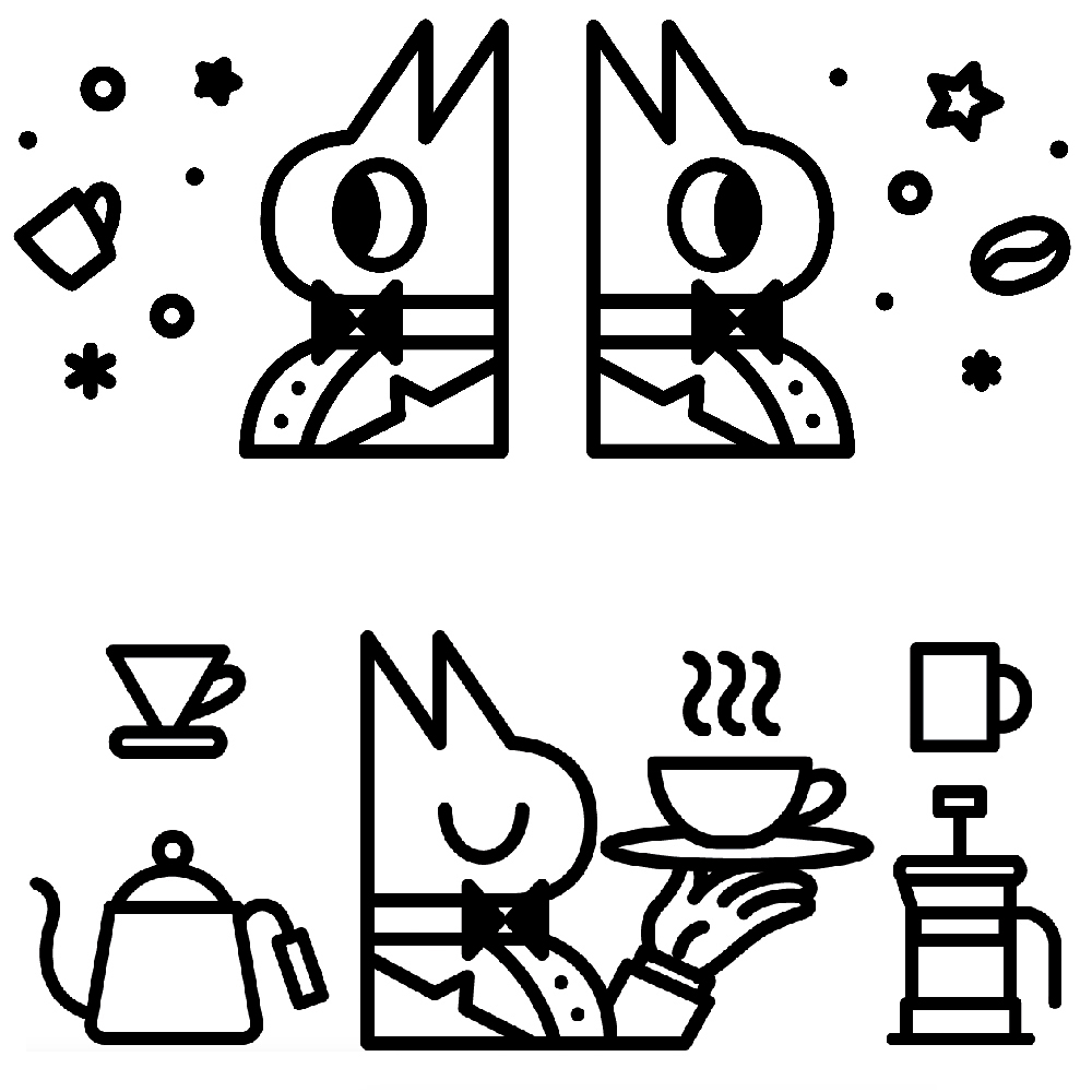 Baron Barista - Mascot Branding System