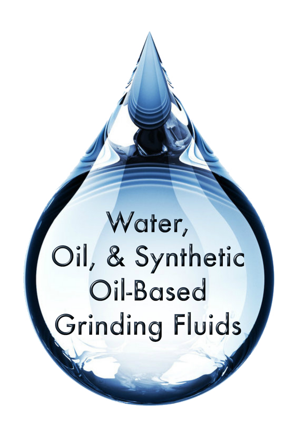 Water, Oil, and Synthetic Oil-Based Grinding Fluids