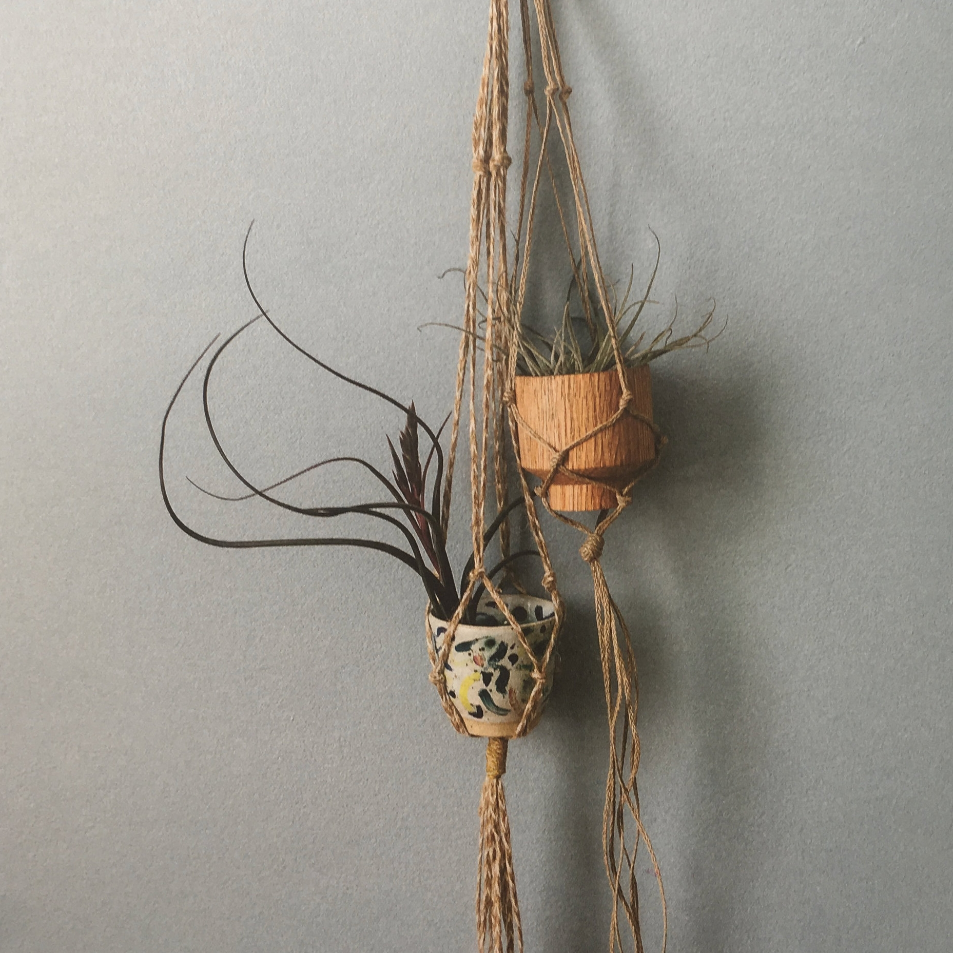 Try different textures of rope and twine