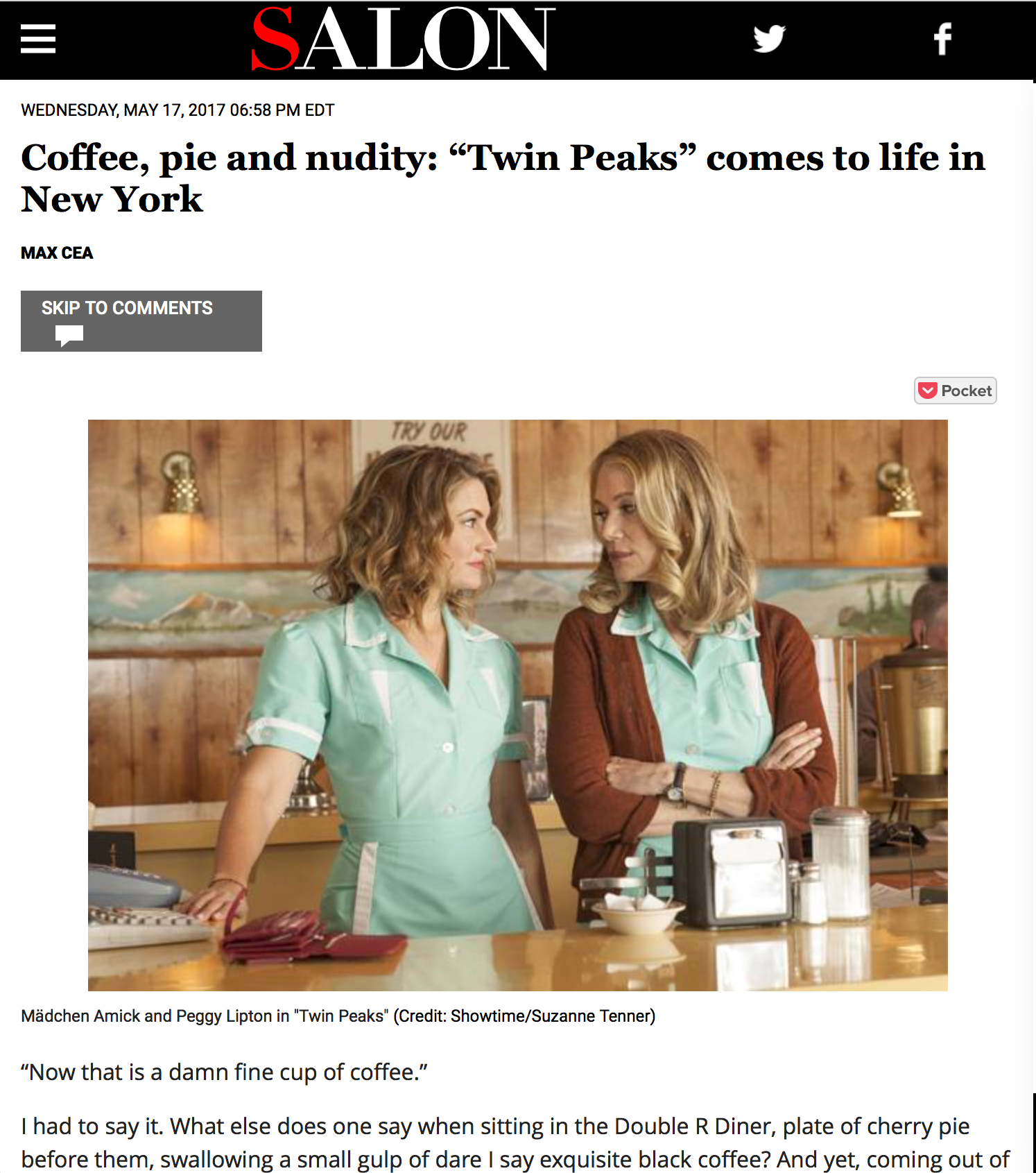 A Tribute to Twin Peaks - Showtime's immersive pop-up event by BBQ Films covered by Salon.