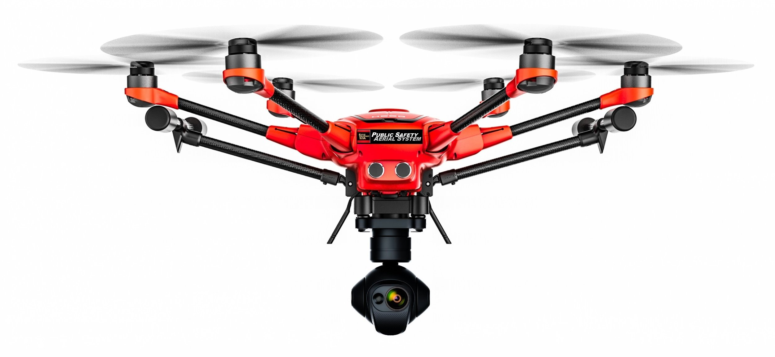 Public Safety #1 - The FireDroneUSA Hexacopter FR adds fire-resistance with quality features and performance. From thermal imaging to stability in high winds, it is built to last.