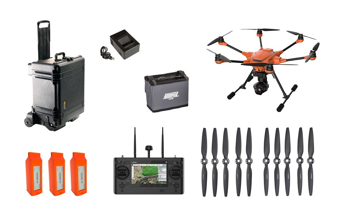 Complete Kit - Comes with the H520 Hexacopter, ST16 Ground Controller, a heavy duty water tight Pelican case, rotor blades, 3 batteries, charger, and FREE SHIPPING!