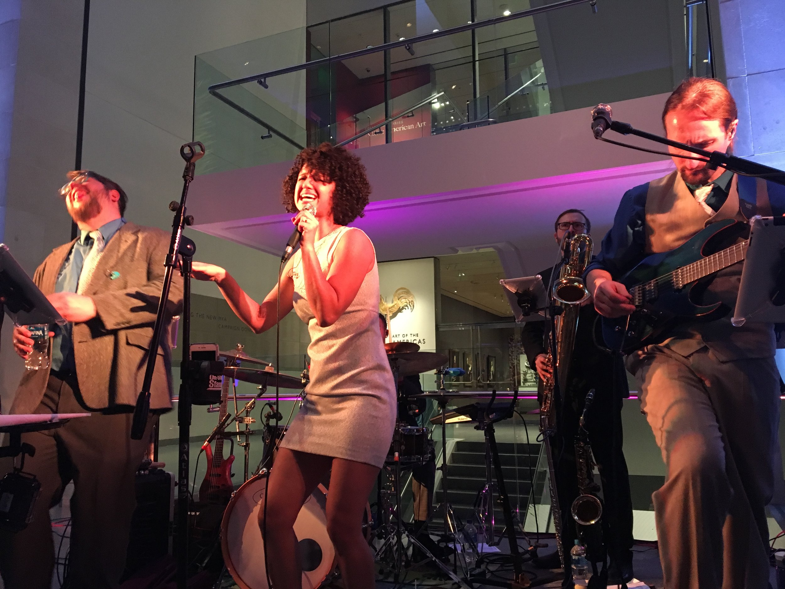One of our favorite partner bands brought the energy to Boston Consulting Group's 2018 holiday party at the MFA