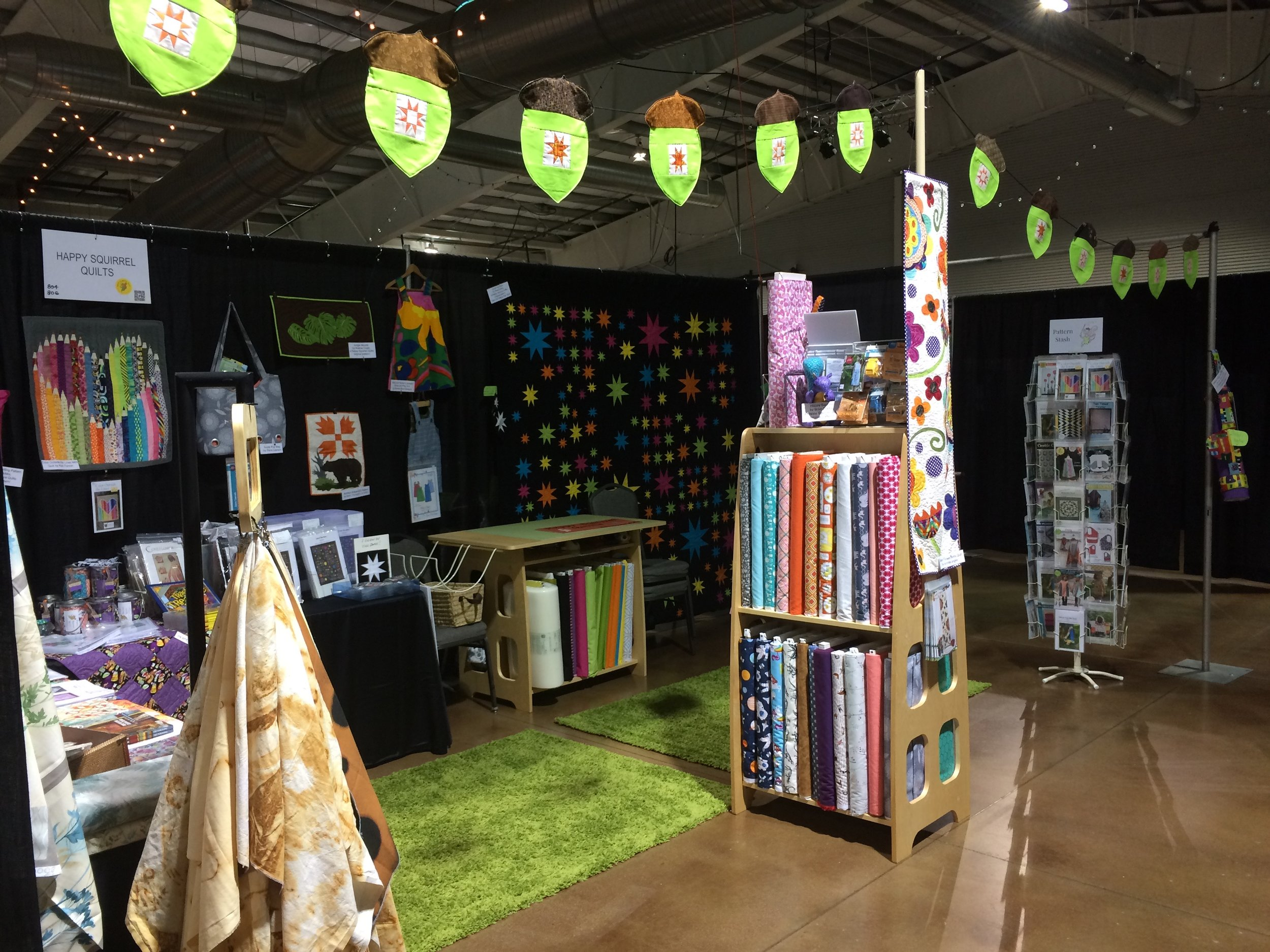 Happy Squirrel Quilts Booth