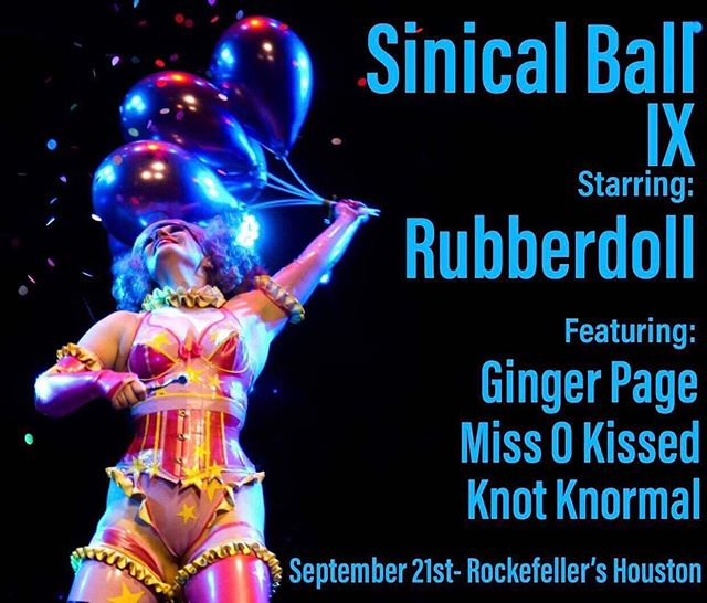 Tonight's the night for @sinicalmagazine 9th Anniversary Ball at Rockefellers Houston featuring @rubberdoll @missokissed @gingerpagetx @knotknormal  @thevaulthtx  Guests Dommes: @thechloemanson @miss.crimsonrush @misspaigefox @mistressprimrose_  @msvanitysin @mistress.odette , and Julie Simone.  DJ Sluggo  Host: Marky DeSade  Art by Ricky Ortiz  Vendors: Thee Violet Owl, E&V Wares, Knot Knormal, and Dan Miga Designs  Sponsors: The Dark Art Store and Robert Hold Photography.  Purchase tickets at: http://www.eventbrite.com/e/sinical-ball-ix-tickets-63944265018 #fetish #fetishball #sinicalball #sinicalball2019 #sinicalmagazine #houstonkink #houstonfetish #latexfetish #kinklesque #pintsizedpervert #latex #latexfetish #latexdesigner #latexshow