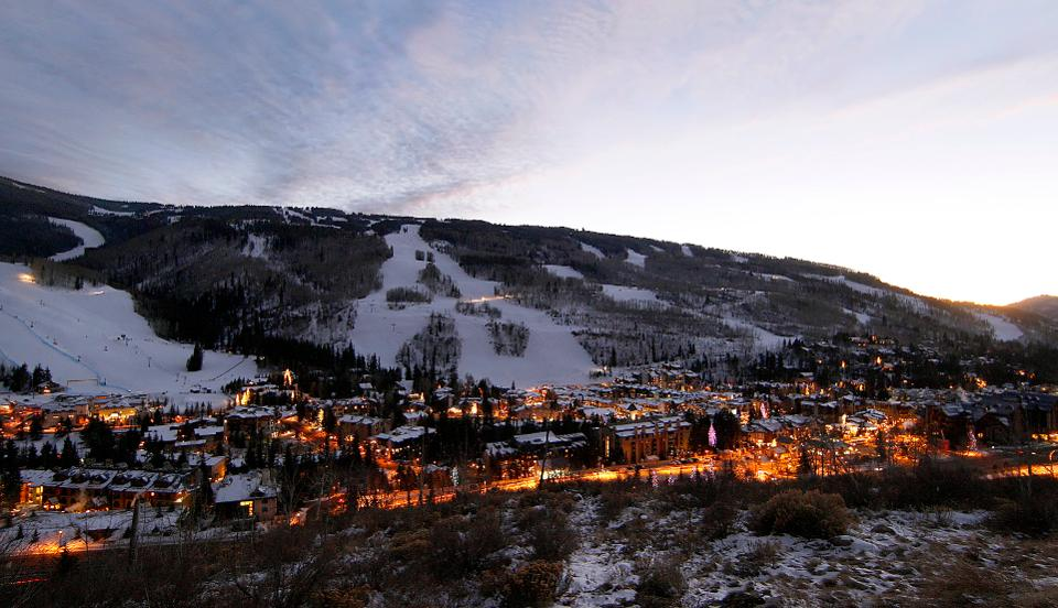 Vail, at more than 5,000 acres goes far beyond the view from the front side. Credit: Bloomberg