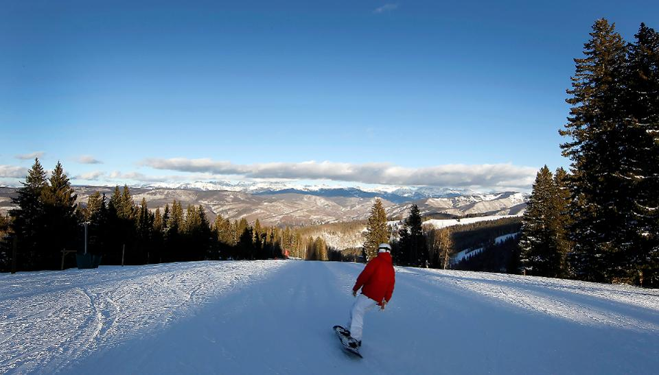 The top of the mountain at Beaver Creek is mellow enough for beginners and kids. Credit: Bloomberg