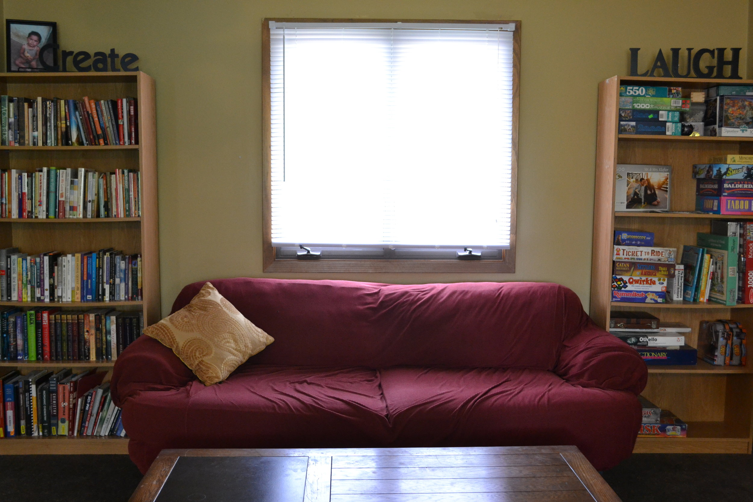 Living room hangout space.