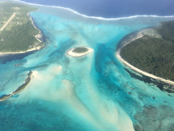 Aerial view of Kaibu and Yacata Islands in the northern Lau Group. Photo ©Sangeeta Mangubhai/WCS.