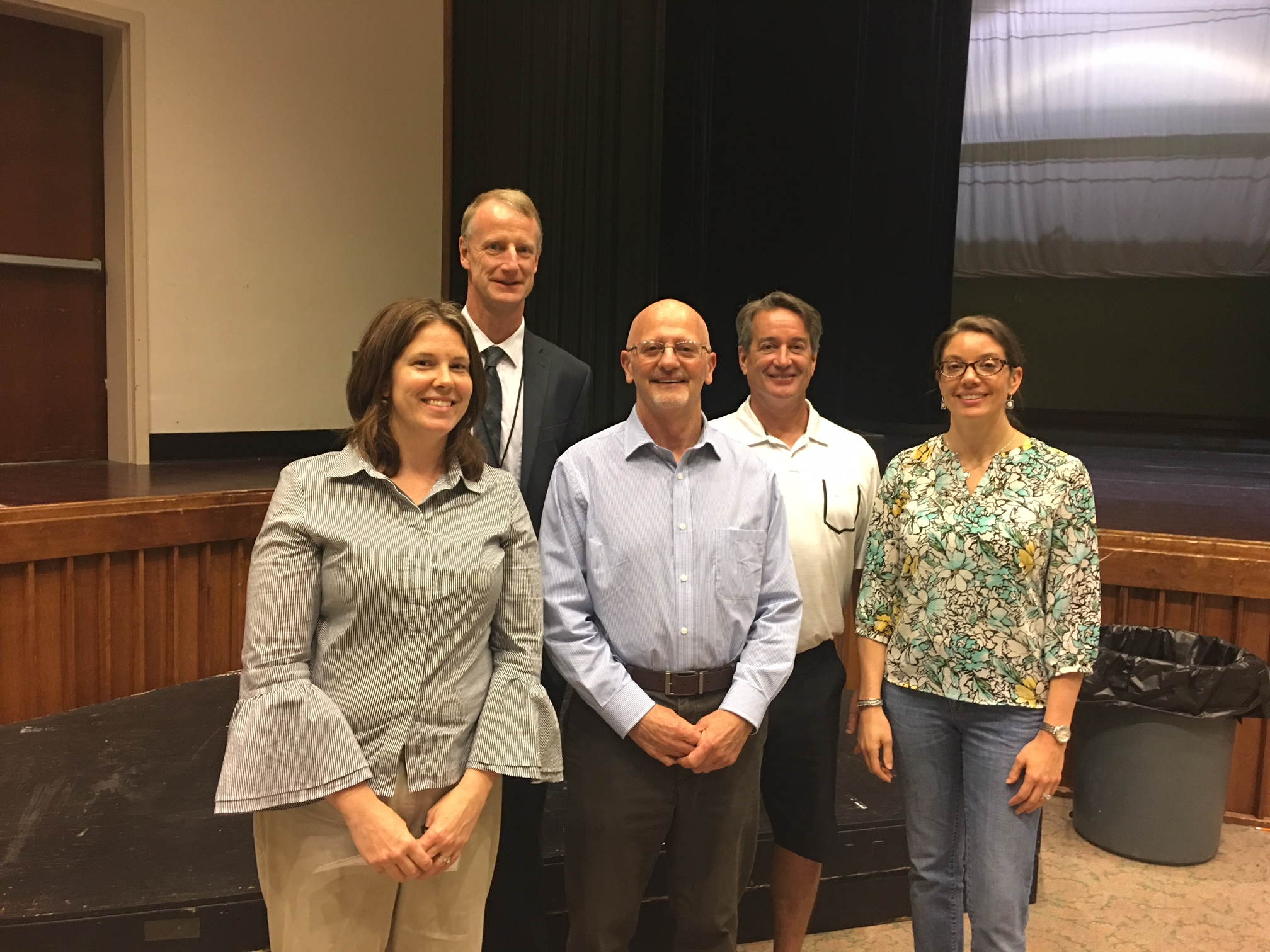 Left to right: Amy Porier, Peter Driscoll, Arthur LeClair, with SEED board members Pat Duffy and Kelly Glennon