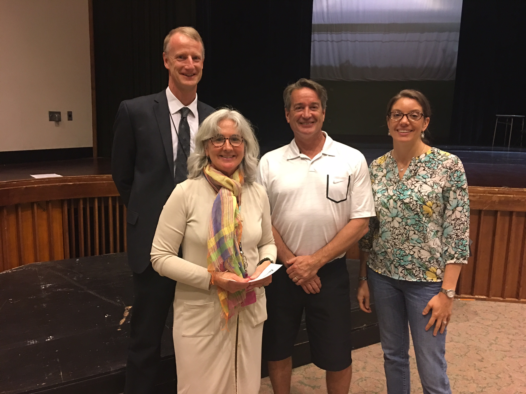 Left to right: Peter Driscoll and Susan Heeter, with SEED board members Pat Duffy and Kelly Glennon
