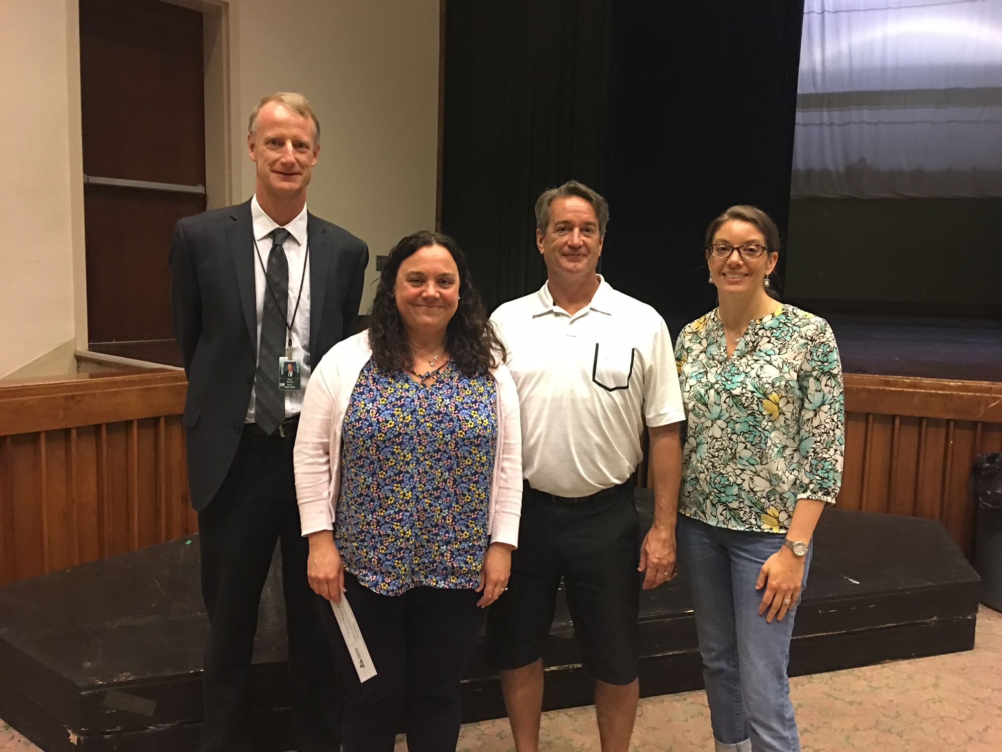 Left to right: Peter Driscoll and Tara Ouimette, with SEED board members Pat Duffy and Kelly Glennon