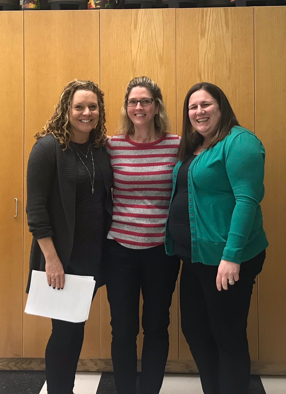 Pictured: Becca Cotter and SEED Board Members Natalie Koellmer and Erin Tellez