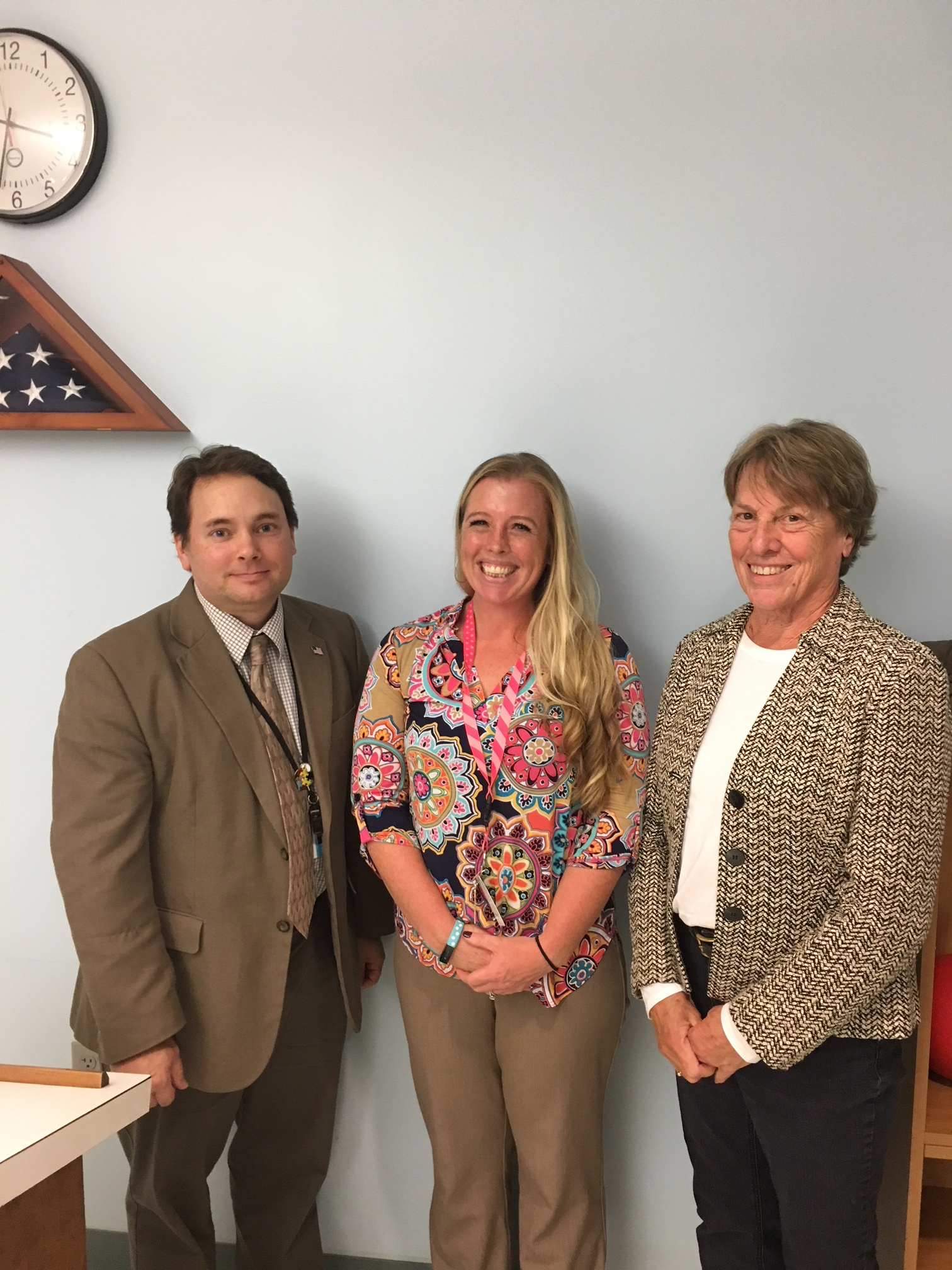 Pictured: WPS Principal Patrick Boodey, Katie Gorski and SEED Board Member Cynthia Theodoras