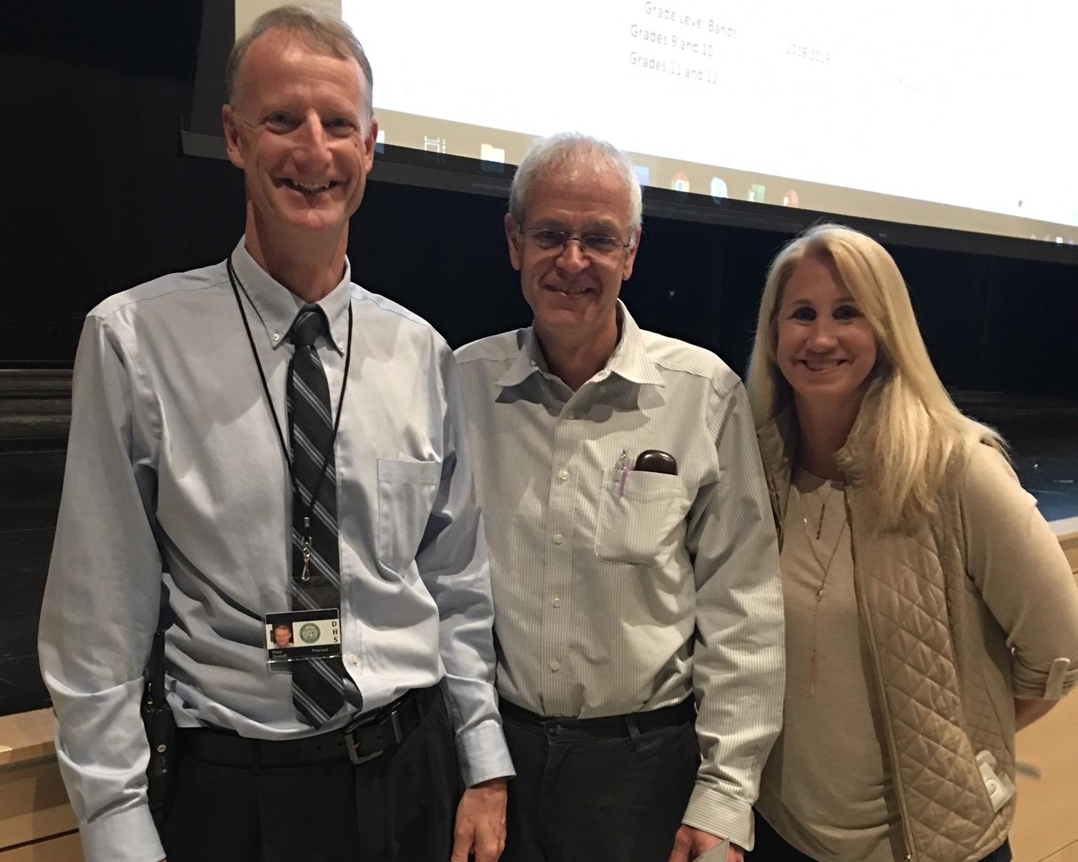 SEED grants Dover High School statistics teacher Tim Elliott funding to buy digital calibers.