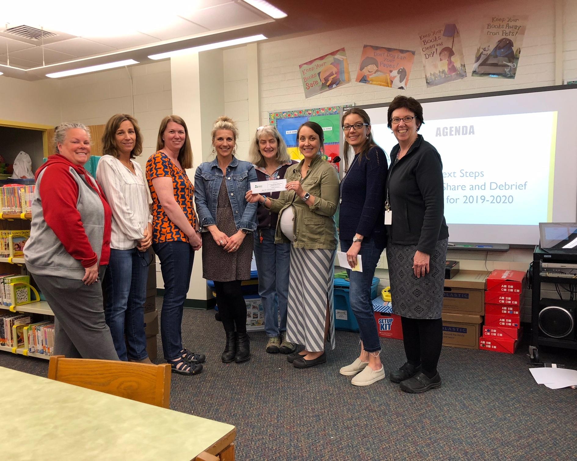 Horne Street School Teachers receive SEED grant award for sensory pathways installation.