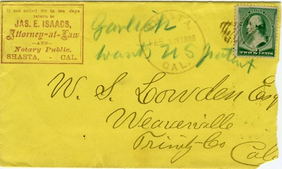 Issacs Envelope 1888