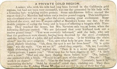 A Private Gold Region