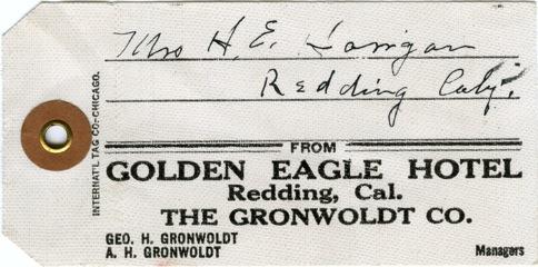 Golden Eagle Luggage Tag