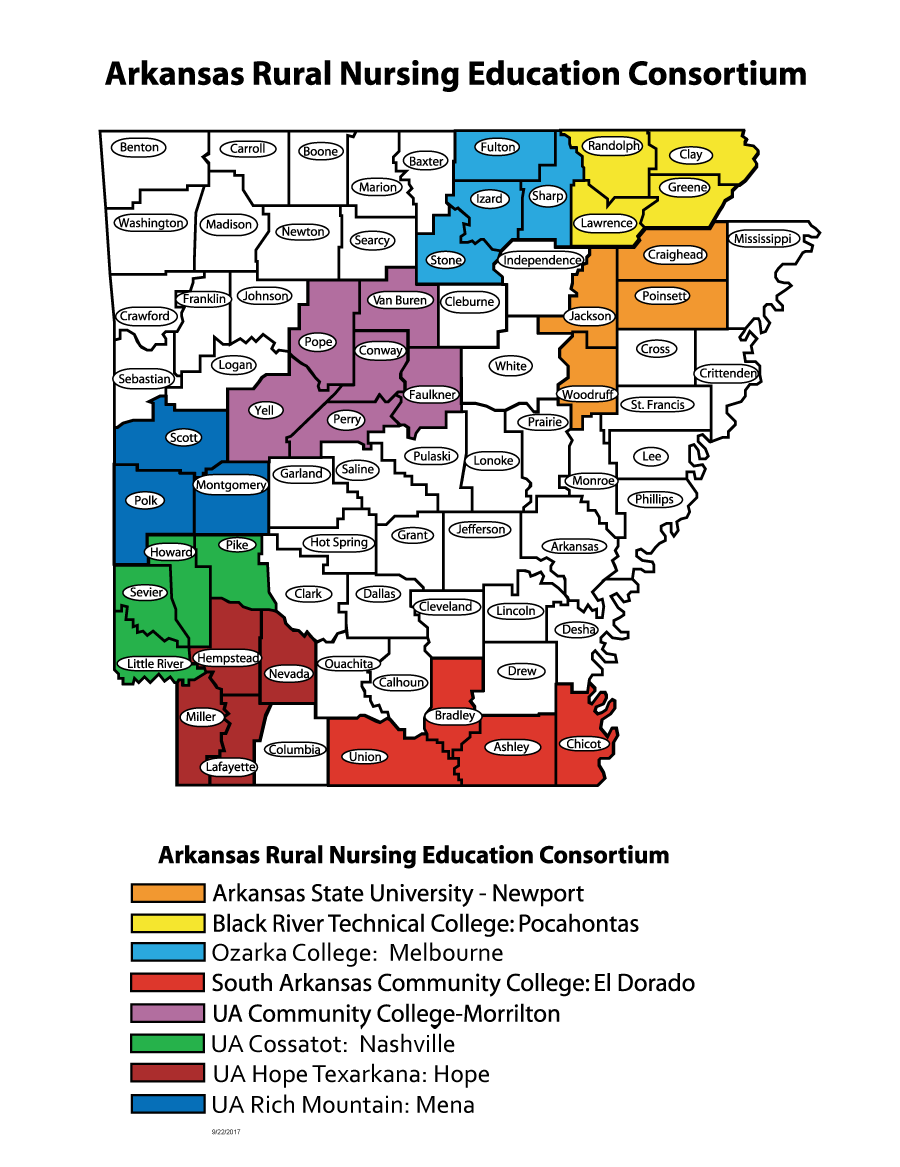 map of colleges in arkansas About Arnec map of colleges in arkansas