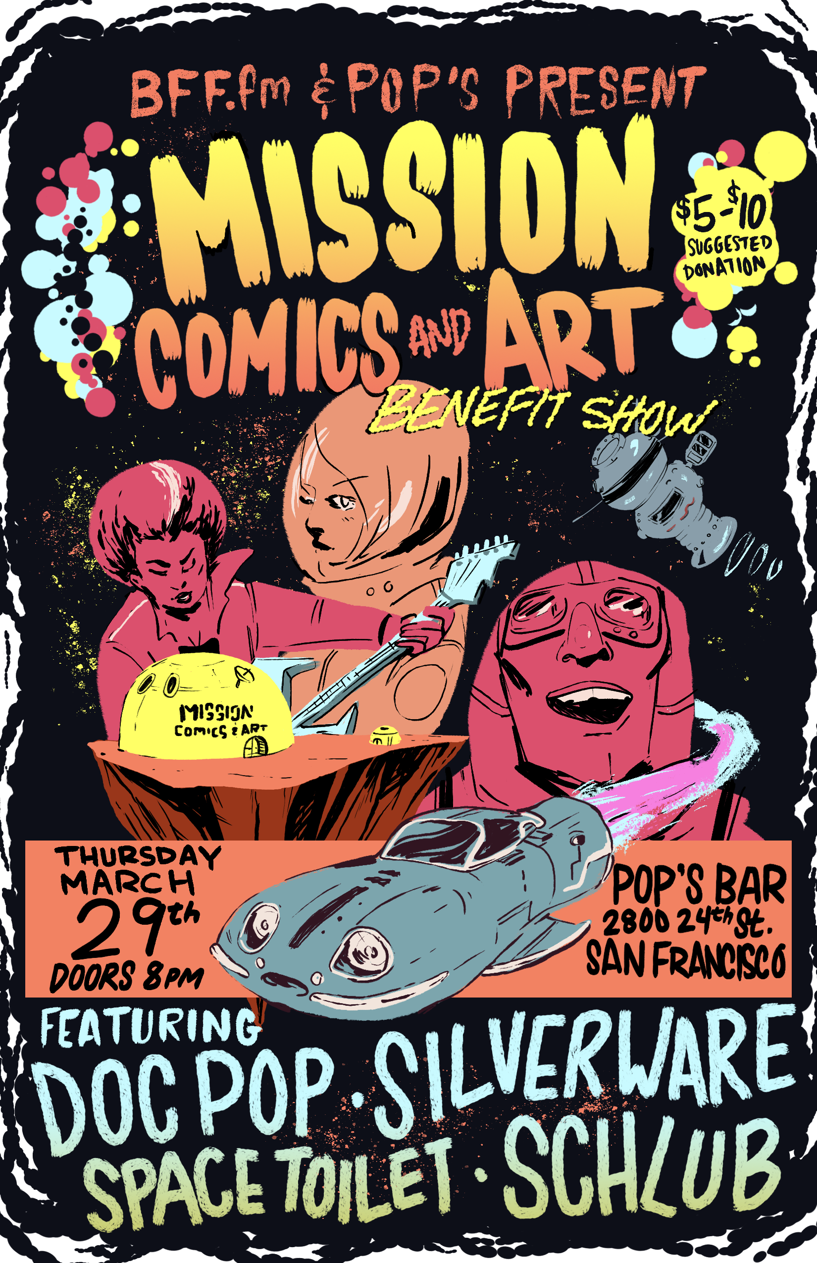 Mission Comics Benefit Show Poster