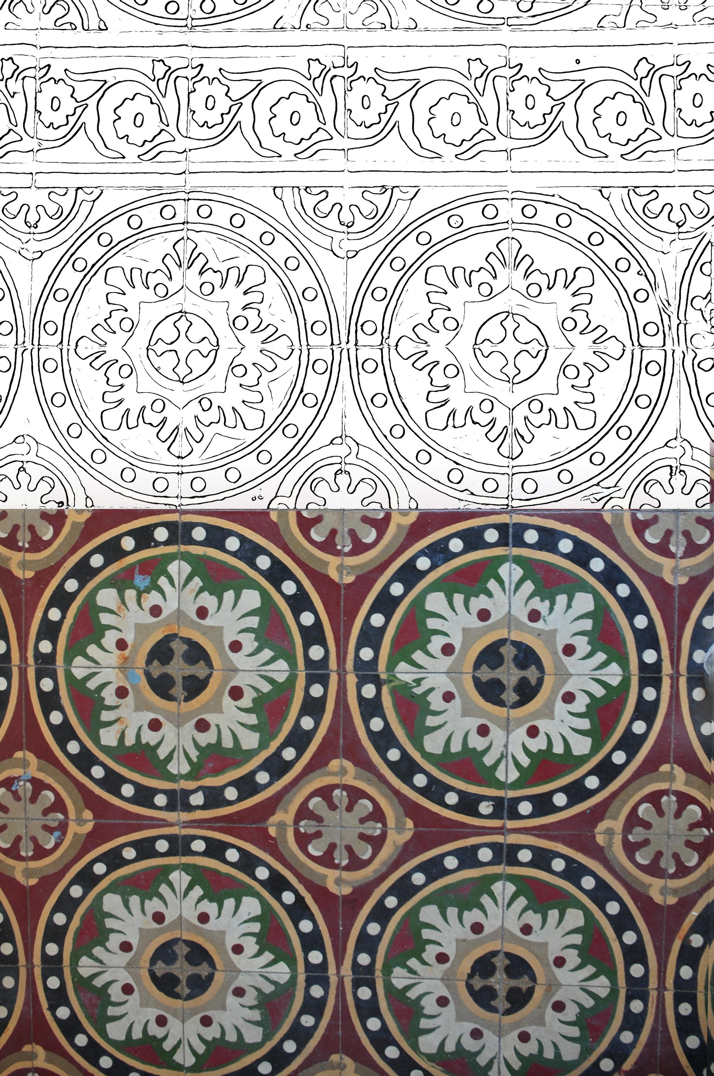 Original restored Italian tiles, 1923
