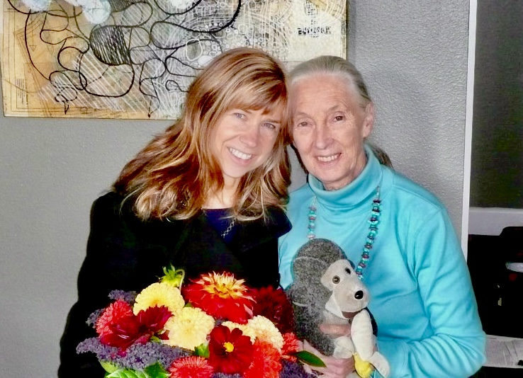 JANE GOODALL AND GAIL HUDSON CELEBRATING THEIR RECENT BOOK RELEASE,  HOPE FOR ANIMALS AND THEIR WORLD.